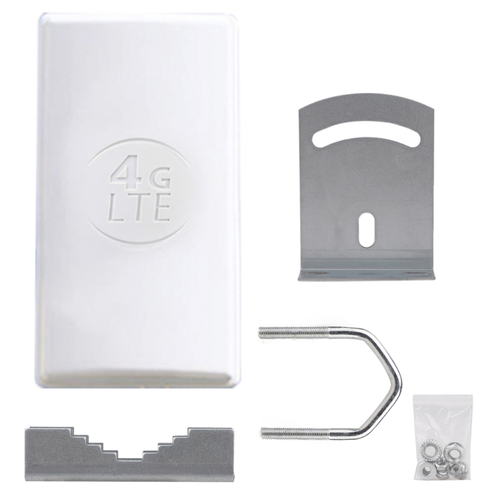 24dBi Outdoor 4G LTE MIMO AntennaLTE Dual Polarization Panel Antenna Double SMA Male Connector 5M Cable For Huawei 4G Router
