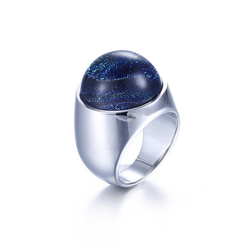 Wholesale Coloured Glaze Titanium Steel Rings Accessories Jewel Ring Fashion Jewelry Lover Valentine Lovers Couples
