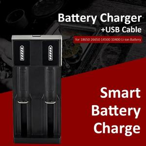 Image 2 - Smart Battery Charger+USB Cable Lithium Battery Charger Usb Battery Charger for 18650 26650 14500 10400 3.7~4.2 v Li ion Battery