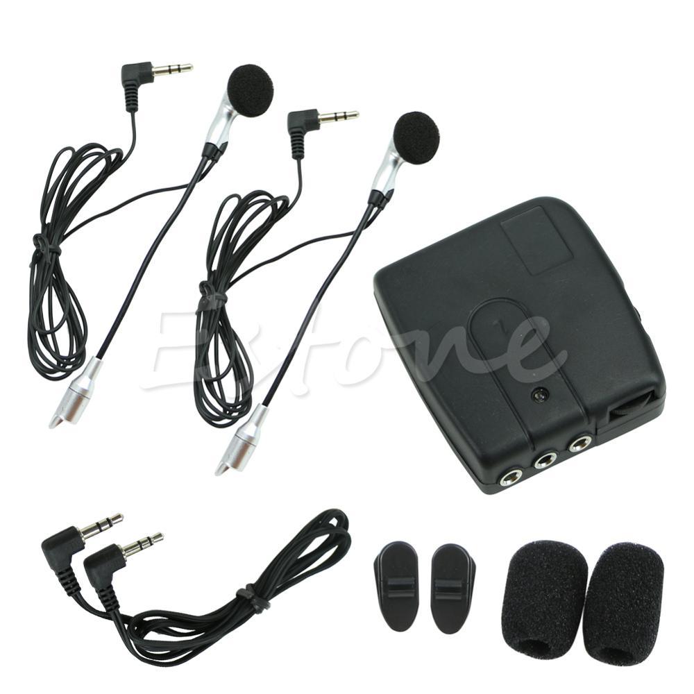 1 Set Motorbike Motorcycle Helmet 2 way Intercom Headset Communication System New|Helmet Headsets| |  - title=