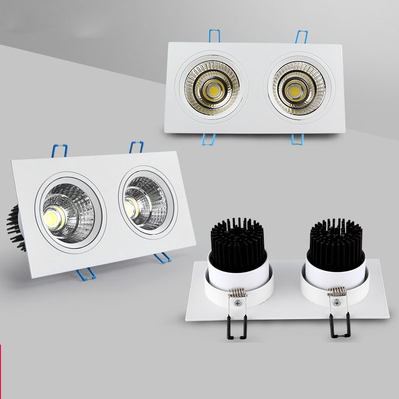 1Pcs 5w 7w 10w AC85V-265V 110 V/220 V LED Teto regulável cob quadrado Downlight recessed DIODO EMISSOR de luz Spot lâmpada led