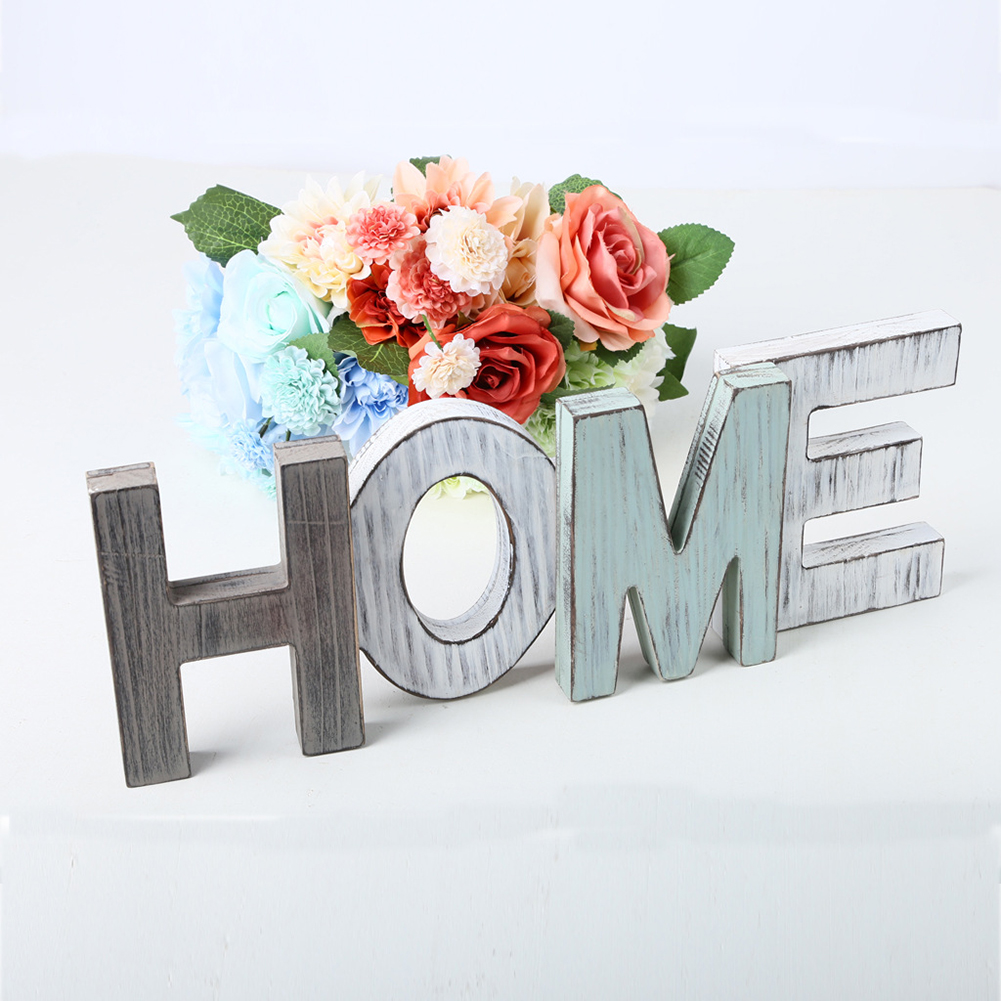 Vintage Wooden Letters Home Decor Wall
