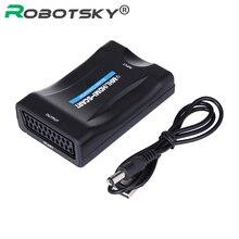 HDMI כדי Scart ממיר פלסטיק עם מתכת ממיר וידאו אודיו יוקרתי עבור HD DVD + USB כבל HD טלוויזיה HD מקלט אות מתאם
