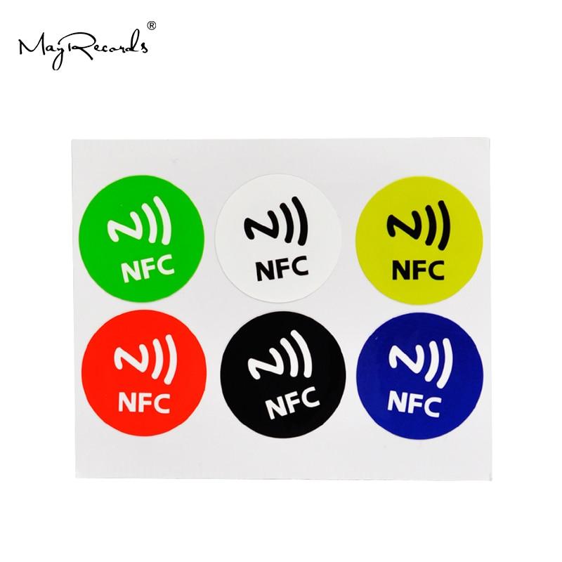38 mm Circle Pre-Printed QR Code ID Printed NFC Sticker iCode SLIX 10 Pack