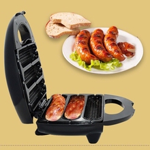 Electric Sausage Maker Automatic Mini Hot Dog Bread Machine Sandwich Iron Toaster Baking Breakfast Pan Oven EU Plug 2014 hot sell automatic electric sandwich maker waffle iron sanwich maker