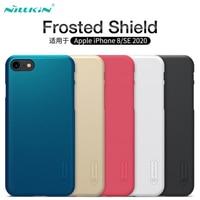 Para o iphone se 2020 casos para o iphone 8 capa nillkin fosco escudo duro pc matte voltar capa protetora caso para iphone se 2020