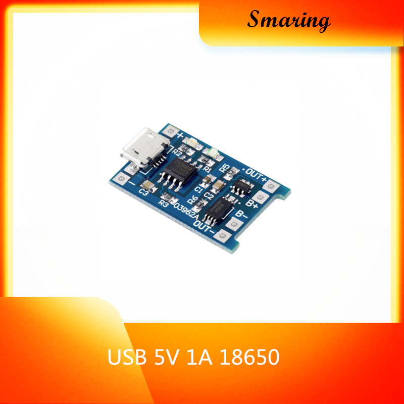 Official smaria Micro <font><b>USB</b></font> <font><b>5V</b></font> 1A 18650 Lithium Battery Charger Module Charging Board With Protection diy rc toy kit electroincs image