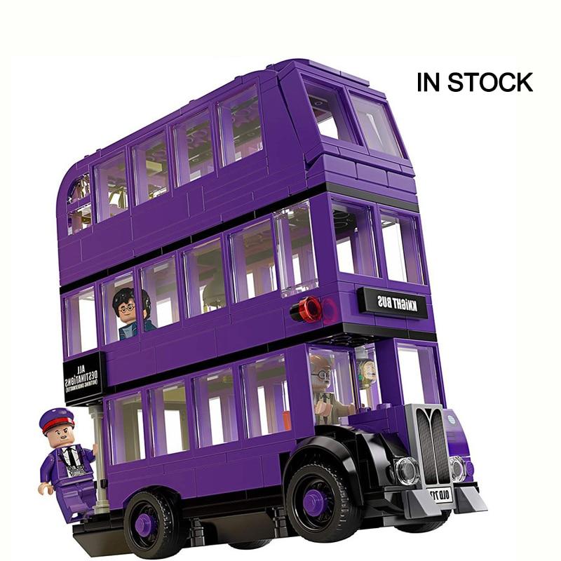 NEW 2020 Magic World Knight Bus Tower Castle Building Blocks Bricks Christmas Toys Gifts Compatible LegoinGOOD Harri 75957