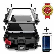 الثقيلة واجب حماية درع معدن الألمنيوم حالة الهاتف لسامسونج S8 S9Plus S20 S20Plus S10 S10E S10Plus Note10 Note9 Note20