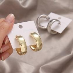 ZOVOLI Minimalist Large Circle Geometric Round Big Hoop Earrings For Women Girl Wedding Party Jewelry Fashion 2021 trend