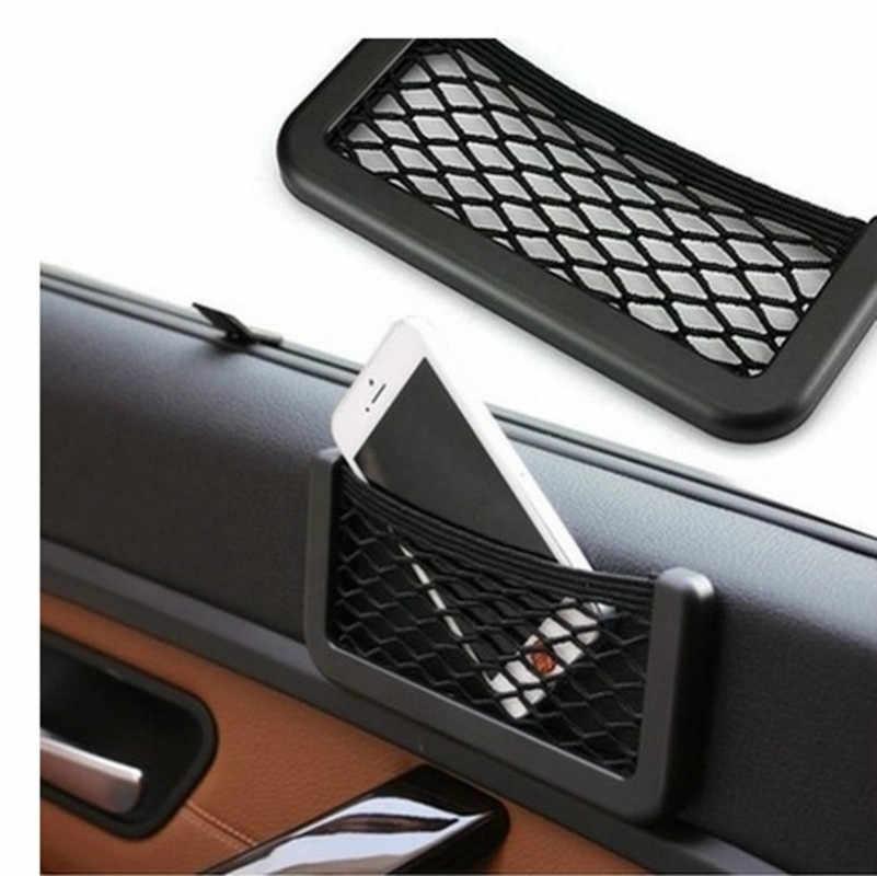 SUZUKI Swift Vitara Sx4 Grand Vitara Ignis araba Net çanta telefon tutucu depolama cep düzenleyici araba örgü gövde Net cep