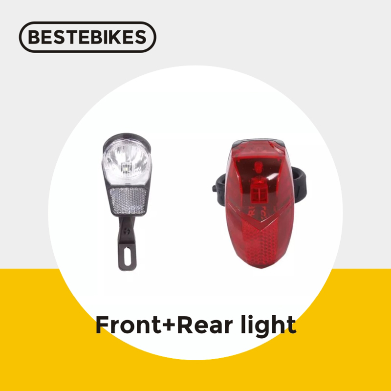 Spanninga brand BBS01 BBS02 BBSHD 6V LED front rear flash light for bafang mid drive motor conversion kit Electric Bicycle Accessories     - title=