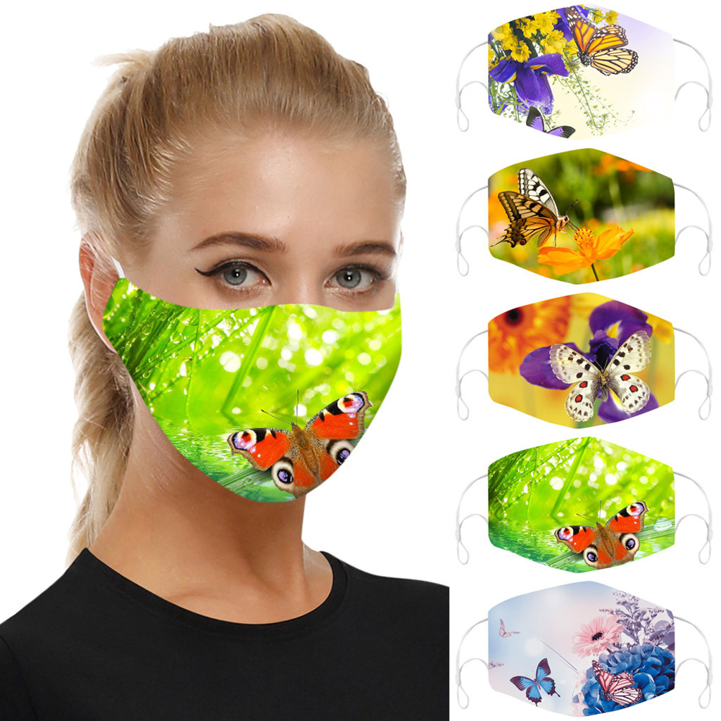Universal Adults DustProof Face Mask Mouth Mask Reusable Face Mask Mascarillas Face Shield Smog-Washable Masque Face Mask Cover