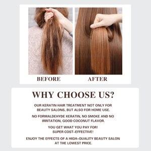 Image 4 - 120ml MMK keratyna bez formaliny Cocount zabieg keratynowy szampon oczyszczający do włosów podróży zestaw do pielęgnacji włosów kręcone produkty do włosów