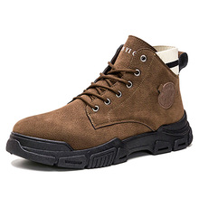 Men's Martin boots 2021 new spring breathable high-top shoes mid-top men's boots tooling leather boots snow men's shoes