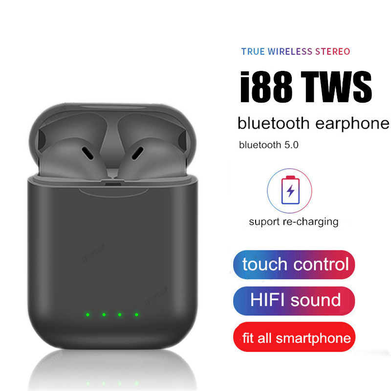 Original i88 <font><b>TWS</b></font> 5.0 Wireless Blutooth Earphone Mini Touch <font><b>Earbuds</b></font> Stereo Headset PK i200 i80 Binaural Call Headphones Elari n image