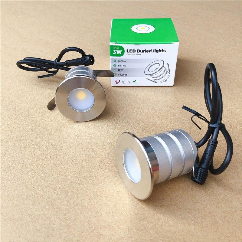 6 X Stainless Steel Recessed Driveway Garden Patio Ground Light GU10 240V IP67