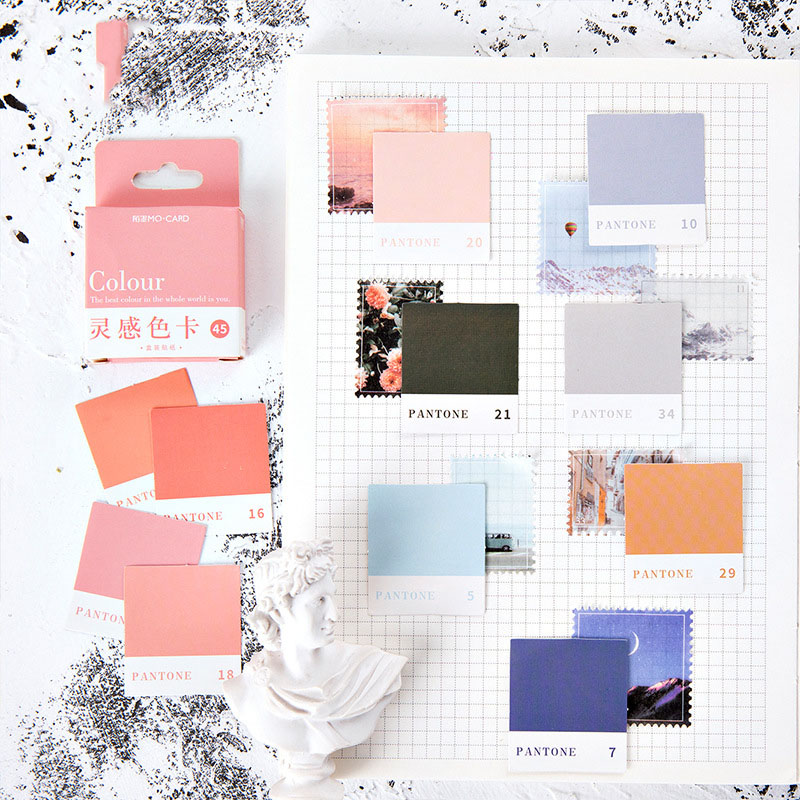 Mohamm Inspiration серия цветных карт Kawaii клевый стикер пользовательские наклейки для дневника канцелярские принадлежности 45 шт