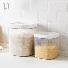Youpin Jordan&Judy PP Grain Rice Storage Box Sealed Barrel Moisture Cat Dog Food Storage Snap on handle Storage Box