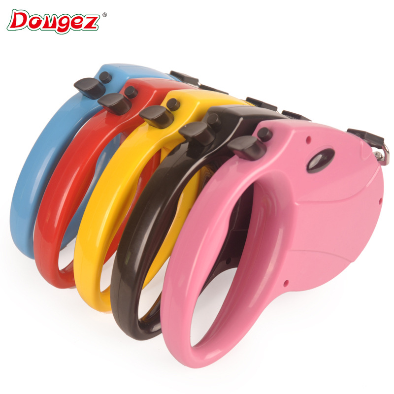 Dougez Pet Automatic Telescopic Traction Belt Dog Flat Rope Hand Holding Rope Dog Maker 5 M Pet Supplies
