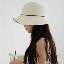 Maxsiti U Eenvoudige En Onregelmatige Vrouwen Elegante Opvouwbare Bassin Hoed Zomer High End Visser Hoed Vrouwen Uitje Stro hoed