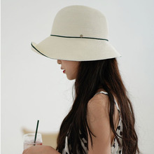 Maxsiti U Semplice E Delle Donne Irregolari Elegante Bacino Pieghevole Cappello di Estate di Fascia Alta Pescatore Cappello Gita di Paglia Delle Donne cappello
