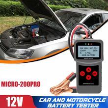 Lancol Motorcycle Battery Tester Motorbike Alternator Tester Analyzer Car Battery Tester for Voltage