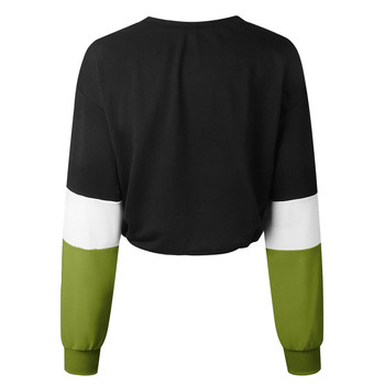 Jaycosin Fashion Womens Long Sleeve Splcing Color Sweatshirt Casual Cool Chic New Look Comfortable Pullover Tops Blouse 8