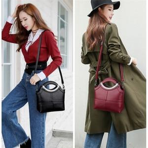 Image 3 - Bolso de mano con Concha a la moda para mujer, marcas famosas, de cuero, bandolera cruzada