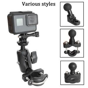 Image 1 - ل GoPro 8 دراجة نارية المقود حامل يي 4K مرآة خلفية رام جبل لسوني SJCAM EKEN الذهاب برو DJI oomo عمل ملحقات الكاميرا