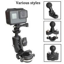 Voor GoPro 8 Motorfiets Stuur Houder Yi 4K Achteruitkijkspiegel RAM Mount voor Sony SJCAM EKEN go pro DJI osmo Actie Camera Accessoire