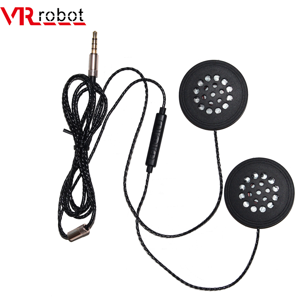 VR Robot Motorcycle Helmet Headset 3.5mm Jack Wired Earphones Music Headphones With Handsfree For Motorbike Rider