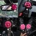 Стильный цветок ромашки автомобильный ремень безопасности крышка рукоятка ручного тормоза переключения зеркало крышка набор для авто акс...