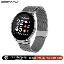 Cobrafly חכם שעון לחץ דם קצב לב צג חכם להקת ליידי IP67 עמיד למים ספורט צמיד עבור אנדרואיד iphone xiaomi