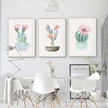 Nordic Decoration Green Plant Canvas Painting Cactus Wall Art Posters and Prints Decorative Picture for Living Room Home Decor
