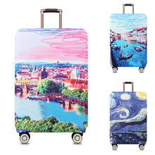 VOGVIGO Printed Trolley Luggage Protective Covers Travel Suitcase Case Elastic Suitcase Accesspries For 18-32 Inch Luggage Cover rerekaxi travel elastic luggage cover suitcase protective shell trolley case dust cover 22 28 inch travel accessories