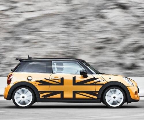 Для 1 комплекта 2 шт Флаг Великобритании Mini Cooper графическая Наклейка Состаренный грузовик автомобиль виниловая наклейка на автомобиль
