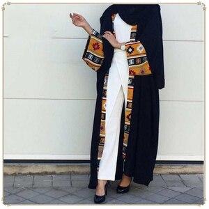 Image 1 - דובאי קפטן מוסלמית בגדים אסלאמיים העבאיה שמלת נשים שרוכים קפטן ארוך גלימת חיג אב שמלת גדול נדנדה גלימת קפטן קימונו Jubah