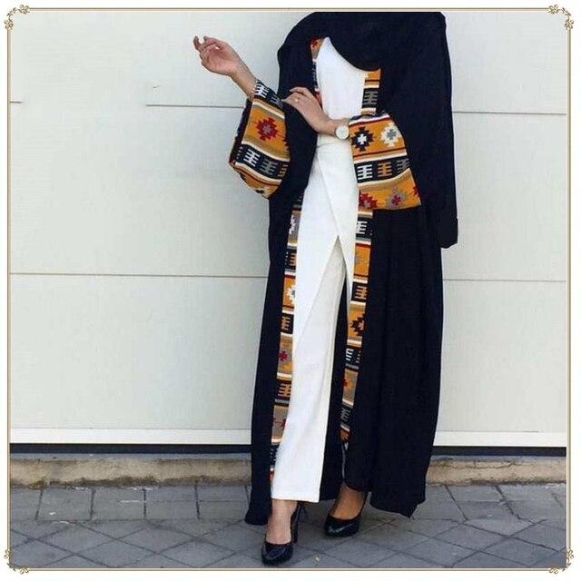 Dubai Dài Hồi Giáo Hồi Giáo Quần Áo Abaya Đầm Nữ Cột Dây Caftan Dài Áo Dây Hijab Đầm Lớn Đầm Dài Áo Dây áo Khoác Kimono Jubah