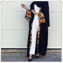 Dubai Kaftan müslüman İslam giyim Abaya elbise kadınlar dantel up Kaftan uzun bornoz başörtüsü elbise büyük salıncak Kaftan Robe kimono Jubah