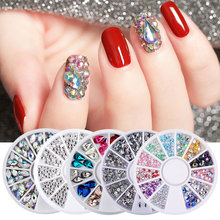 White AB Flatback Non Hot Fix Rhinestones Glitter Nail Art Rhinestones Dress Nail Art Rhinestones Strass Crystal Shoes DIY 1300pcs glitter rhinestones crystal ab non hotfix flatback nail rhinestones strass gem nail art decoration