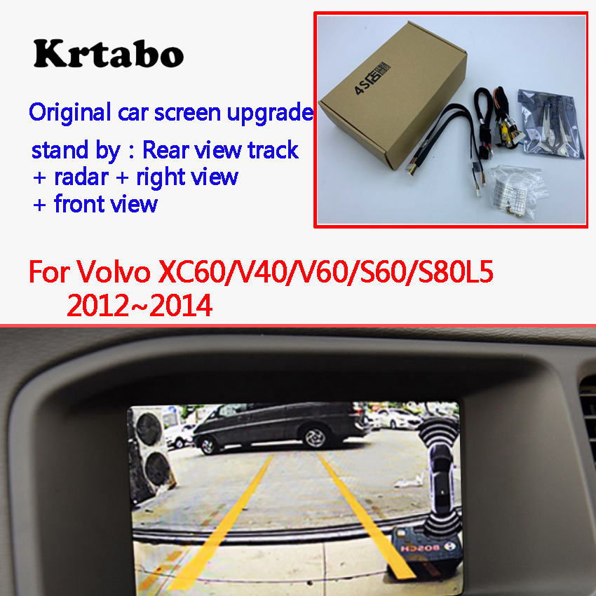 Reversing Camera for <font><b>Volvo</b></font> <font><b>XC60</b></font>/V40/V60/S60/S80L <font><b>2012</b></font>~2014 Interface Adapter Backup Rear view Camera Connect Original Screen MMI image