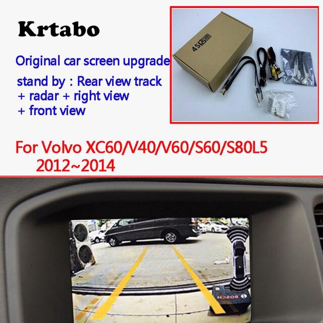 Telecamera di retromarcia per Volvo XC60/V40/V60/S60/S80L 2012 ~ 2014 Adattatore di Interfaccia di Sostegno della Parte Posteriore telecamera Collegare Originale Schermo MMI