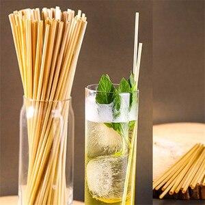 300 штук Экологичные пшеничные соломинки для питья длина 20 см вечерние аксессуары для дома подарки