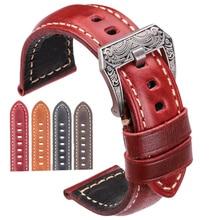 Cowhide Watch Strap Bracelet 20mm 22mm 24mm 26mm 4color Women Men Genuine Leather Watchbands Clock Accessories