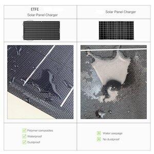 Image 5 - 1 sztuk 2 sztuk ETFE elastyczny panel słoneczny 60w panel słoneczny 12v ładowarka solarna z etfe powłoka zabezpieczająca pół elastyczne panele słoneczne
