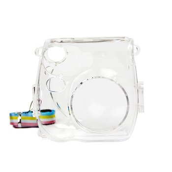 PU skórzany futerał na aparat Instax torba na aparat Fujifilm Instax Mini 7s 7c aparat natychmiastowy aparat polaroid ochronny tanie i dobre opinie OCDAY Natychmiastowa Kamery Torby aparatu Torebki Case Bag for Fujifilm