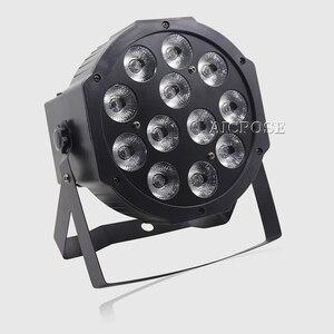 12 шт. 12 Вт светодиодные лампы 12x12 Вт светодиодные лампы RGBW 4в1 плоские светодиодные dmx512 дискотечные огни профессиональный сценический dj обор...