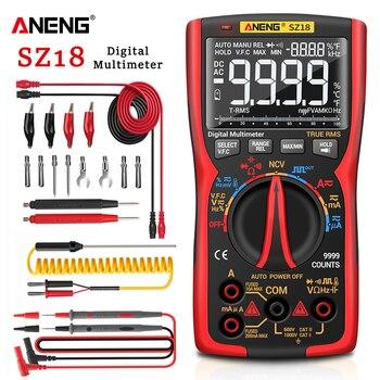 Multimetro Digital ANENG SZ18 9999 polimetro tester profesional multimeter pinza amperimetrica comprobador...