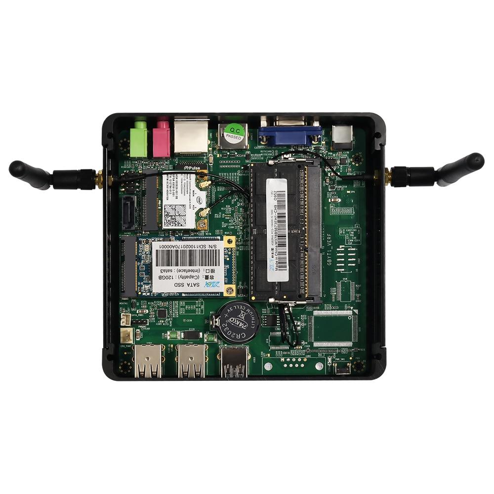Купить с кэшбэком XCY Mini PC Intel Core i7 4500U i5 5200U i3 4010U DDR3L RAM mSATA SSD WiFi Gigabit LAN Fanless HDMI VGA 6xUSB HTPC Windows 10